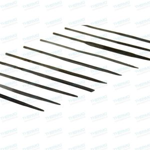 10-Pieces Fine Cut Needle File Set in Assorted Shapes (3mm x 140mm)