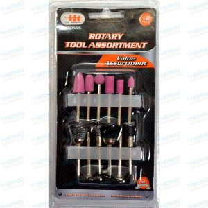 12 Pieces Rotary Tool Assortment Set For Hobby Craft ,Die Grinder Accessory Set with 1/8″ Shank.
