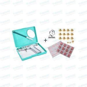 Ear Piercing Gun Nose-Navel Body Piercing Gun (Made of Steel) + Ear Studs