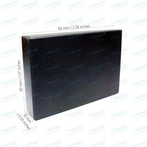 THERMO Gold Testing Stone / Kasauti Stone / Natural Obsidian (2.3″ x 1.5″ x 0.39 Thickness)