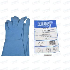 Surf Pure Latex Flocklined Medium Weight Soft Hand Gloves, Flexible, Durable, Premium Non-Slip Grip Tapered for Snug fit