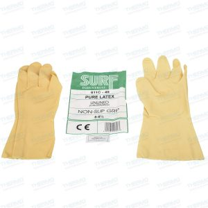 Surf Pure Latex Soft Hand Gloves, Flexible, Durable, Premium Non-Slip Grip Tapered for Snug fit