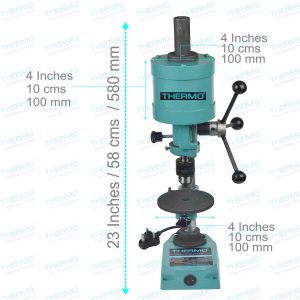 Thermo Table Top Movable Drill 0.12 HP Capacity with 6mm Chuck, 2800 RPM Motor works on 230volts. Used for Soft Metals / Materials (This is not an Industrial Drill)