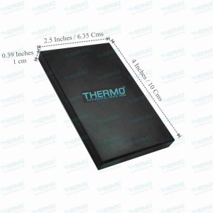 THERMO Gold Testing Stone / Kasauti Stone / Natural Obsidian (2.5″ x 4″ x 0.39″-Thickness)