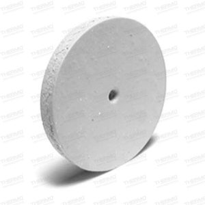 White Square Edge Rubber Wheels for Polishing Gold & Semi-precious Metals.(pack of 10) with 1 mandril