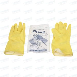 Prima (made in malaysia) Pure Latex Soft Hand Gloves, Flexible, Durable, Premium Non-Slip Grip Tapered for Snug fit