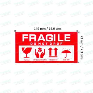 Fragile Sticker / Label (149 mm x 73 mm)