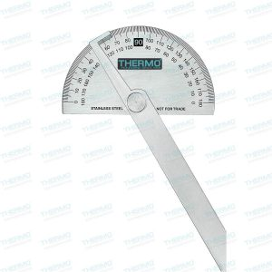 Protractor / Angle Finder / Arm Rule 0-180 Degrees 150mm Measurement with Adjustable Screw Scale (Made of Stainless Steel)