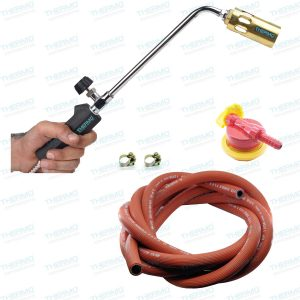 THERMO 42 cms LPG flamethrower with Burner + 5 Meter Yasung (made in Korea) Gas Pipe with Clamps + High Pressure Gas Regulator