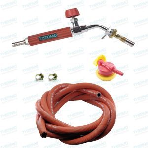 THERMO 22 cms LPG flamethrower with Burner + 5 Meter Yasung (made in Korea) Gas Pipe with Clamps + High Pressure Gas Regulator