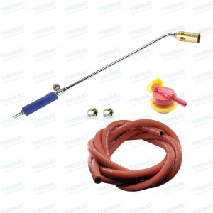 60 cms LPG flamethrower with Burner + 5 Meter Yasung (made in Korea) Gas Pipe with Clamps + High Pressure Gas Regulator
